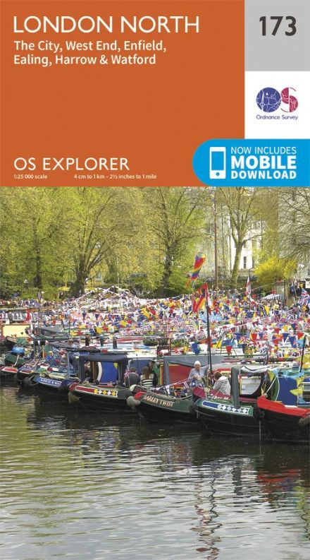 OS Explorer 173 - London North, The City, West End, Enfield, Ealing, Harrow & Watford
